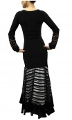 Adeline Striped Devouré Long-Dress