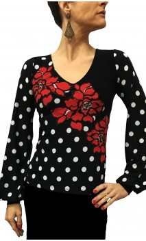 Gianna Blouse w/Flowers