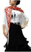 Maura Printed Shawl w/11,8'' fringe