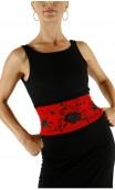 Cinturón AMAYA Rojo con Negro