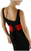 AMAYA Belt Red w/ Black