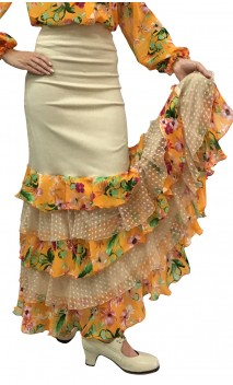 Printed Thereza Long-skirt 5 Ruffles