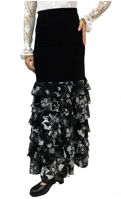 BW KARIME Crepe Chiffon Long-skirt