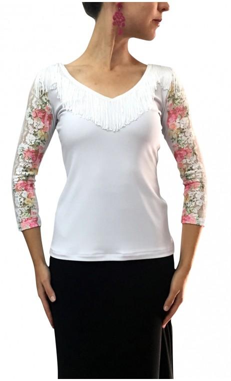 Blusa Luly Color con Flecos