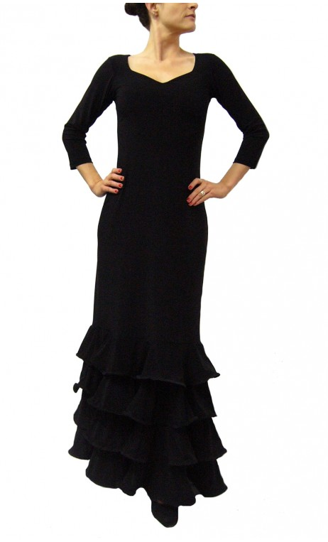 Julia 4 Ruffles Long-Dress