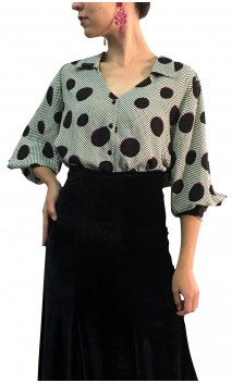 Grazi Viscose Polka-dots Shirt