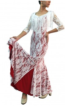 Aurora Lace Long-Dress w/Fringe