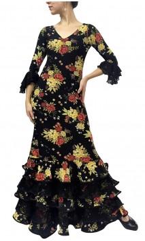 Dalia Long-Dress 5 Ruffles