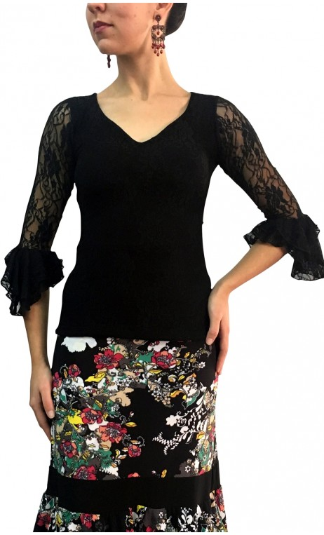 Lucy Lace Top 3/4 sleeves