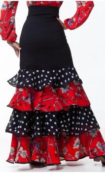 Consuelo Long-skirt 4 Ruffles