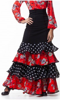 Consuelo Long-skirt 4 Ruffles