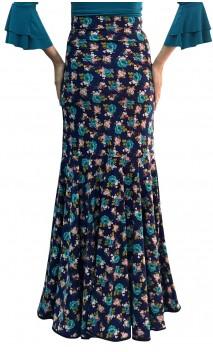 Printed Marian Godet Long-Skirt