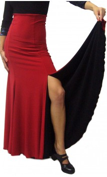 Double-Face Jeane Slit Long-Skirt