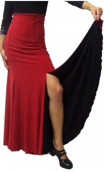 Double-Face Jeane Slit Long-Skirt