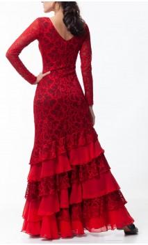 Valeria Lace Long-Dress 6 Ruffles