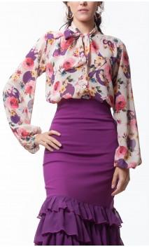 Floral Carmela Crepe Leotard-Shirt
