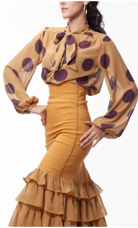 Printed Carmela Crepe Leotard-Shirt