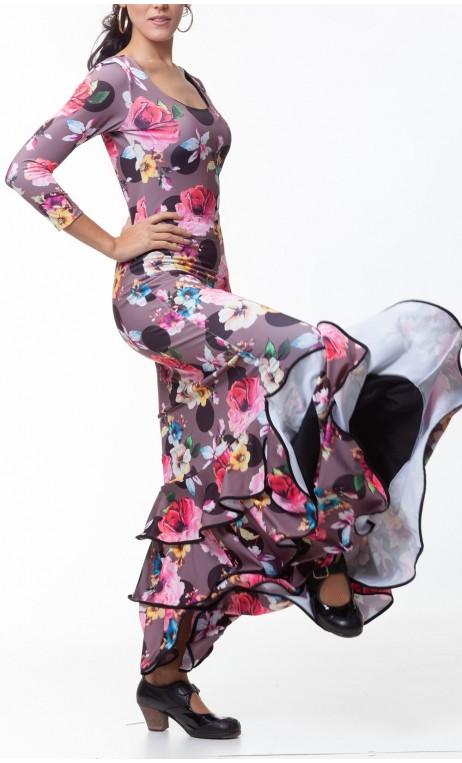Dalia Long-Dress 3 Ruffles