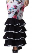 Floral Amaya 4 Ruffles Long-skirt