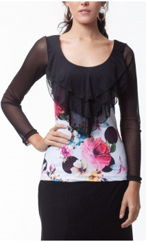 Amaya Tulle Top