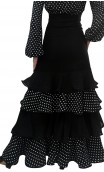 Polka-dots Consuelo Long-skirt 4 Ruffles