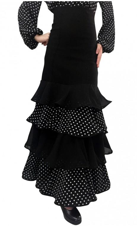 Polka-dots Consuelo Long-skirt 4 Ruffles