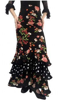Printed Eva Collin Long-Skirt