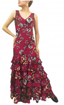 Ester Floral Flamenco Dress