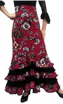 Printed Rosalia Colin Long-Skirt