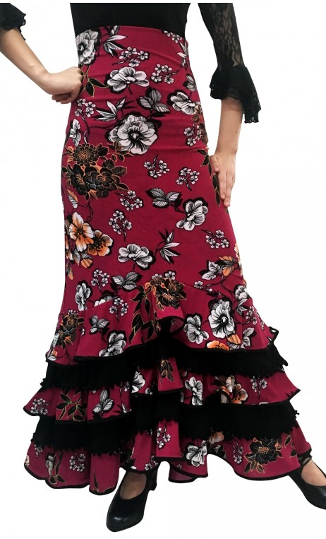 Printed Rosalia Colin Long-Skirt