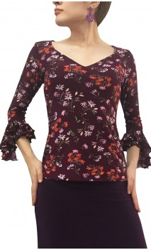Lucy Printed Top 3/4 sleeves