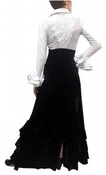 Mabel Velvet Skirt w/Ruffles