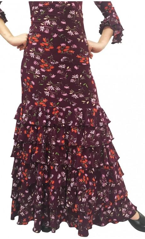 Candela Floral Long-Skirt 6 Ruffles