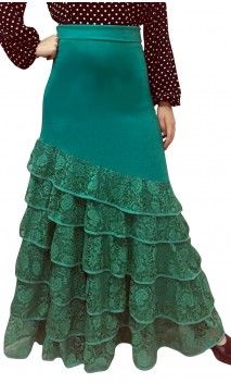 Bengal Lace Long-skirt 6 Ruffles