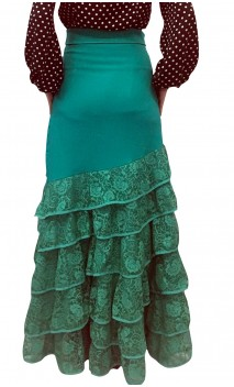 Bengal Lace Long-skirt 6 Ruffles