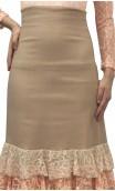 Kari Long-skirt w/Chiffon & Lace Ruffles