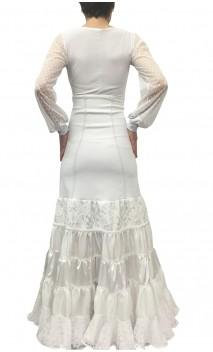 Falda Canastera Blanca