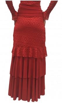 Olga Long-Skirt w/Lace Detail