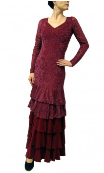 VIDA Velvet Long-Dress 5 Ruffles