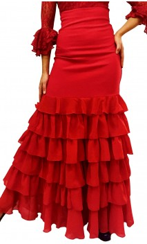 Carmela Long-skirt 6 Ruffles