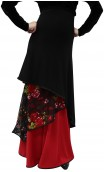 Veruska Long-Skirt w/Floral Lace