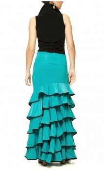 Colors Cádiz 6 Ruffles Long-Skirt