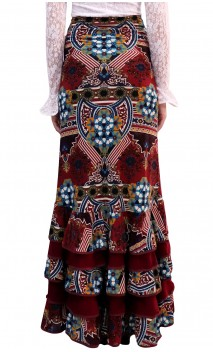 Arabesque Printed Colin Long-Skirt