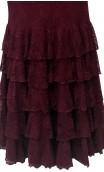 Candida Lace Long-Dress 5 Ruffles