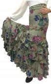 Printed Long-skirt Leonor 6 Ruffles