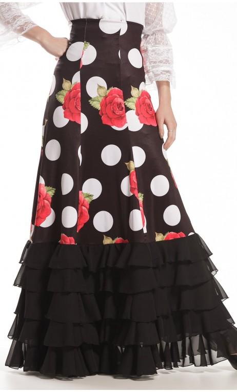 Granada Polka-Dots Long-Skirt w/ 6 Panels