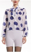 Polka-dots Neo Crepe Leotard-Shirt