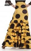 Letizia Polka-Dots 8 Ruffles Long-Skirt