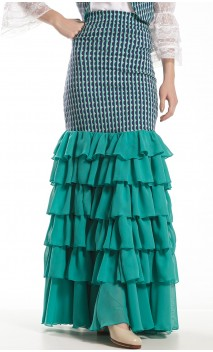 Elena Long-skirt 6 Ruffles