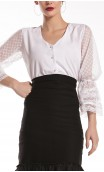Joan Puffy Sleeves Leotard-Shirt